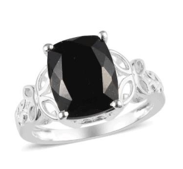 925 black tourmaline
