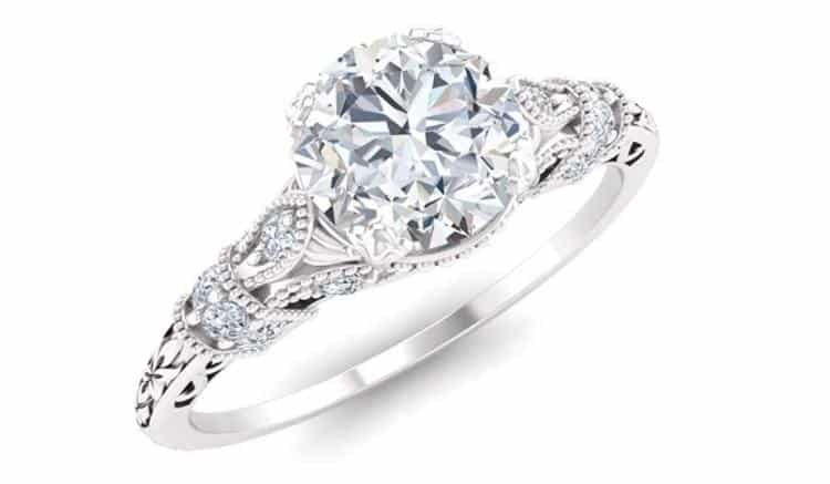 Diamondere Natural and Certified Diamond and Gemstone Engagement Ring