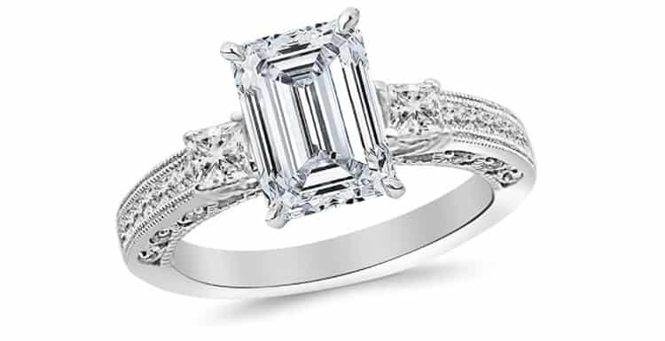 Houston Diamond District 1.21 Carat Three 3 Stone Princess Cut