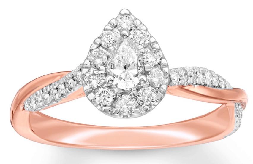 Diamond Promise Ring Pear