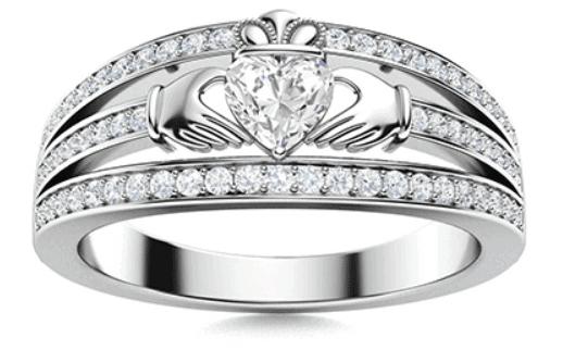 Diamond Sidestone Ring