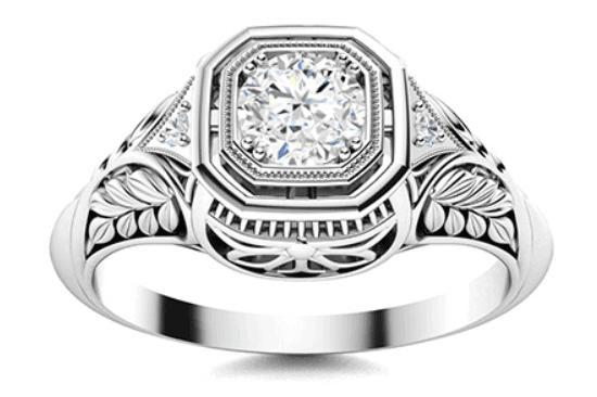 Saskia I Diamond and Diamond Vintage Ring