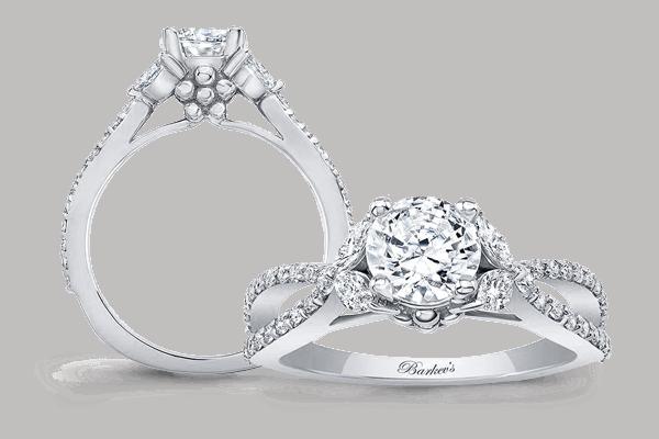 Find lovely Moissanite Engagement Rings | Barkev's