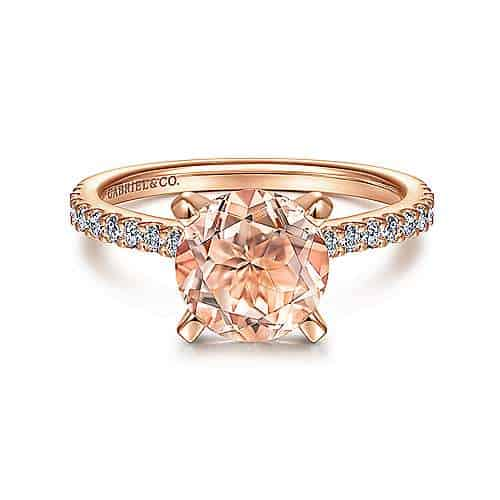 Find Beautiful Morganite Engagement Rings   Gabriel and Co.